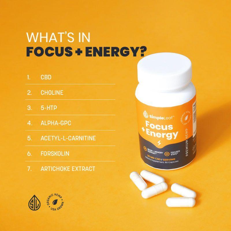 cbd capsule, focus and energy vitamins, focus pills, focus capsules