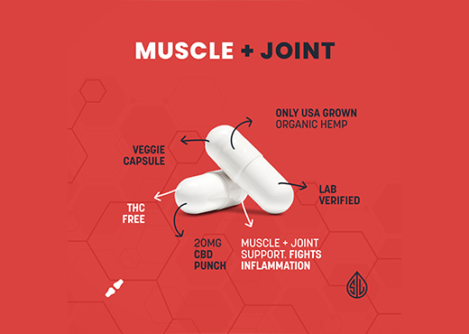 cbd capsule, muscle joint inflammation, muscle joint relief, simpleleaf
