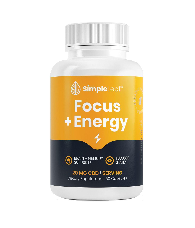 Focus Capsules | Natural Brain Booster | Focus + Energy CBD Capsules
