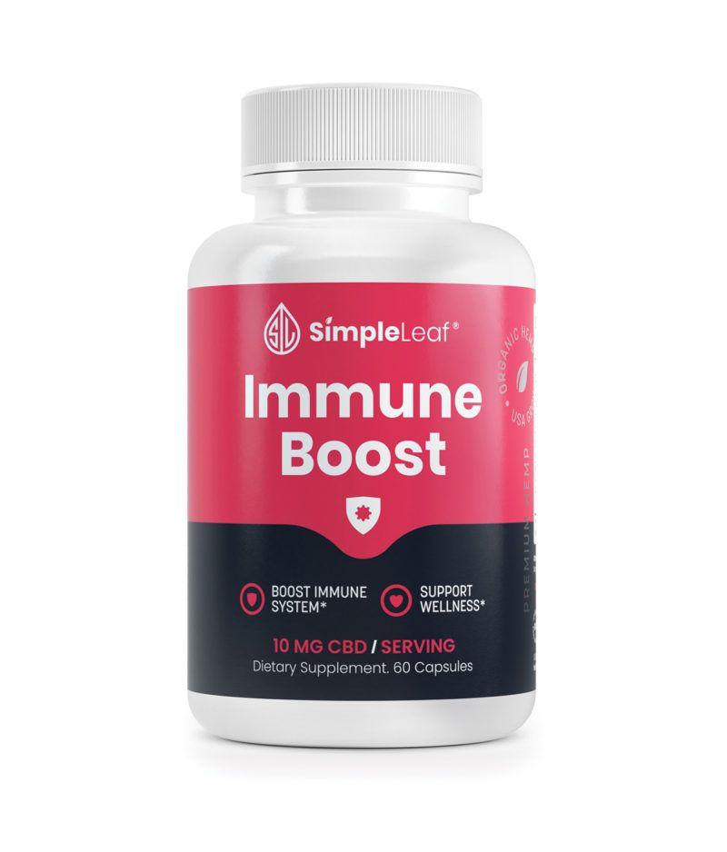 CBD Capsules, Immune Boost CBD, natural immunity, organic immune complex, plant based immunity
