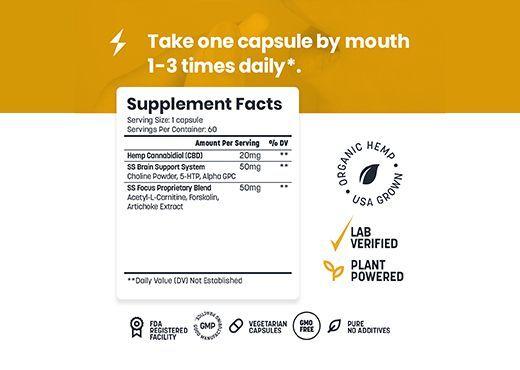 focus and energy CBD, all-natural focus vitamin