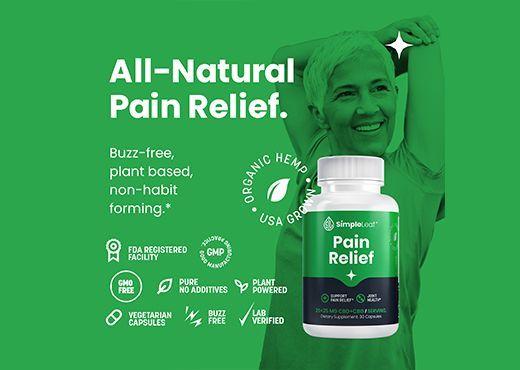 cbd pain relief, cbg pain relief, plant based pain relief