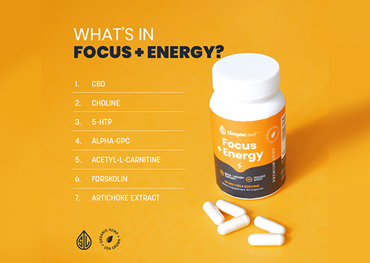 focus pill, cbd capsule, natural focus pill, focus vitamins