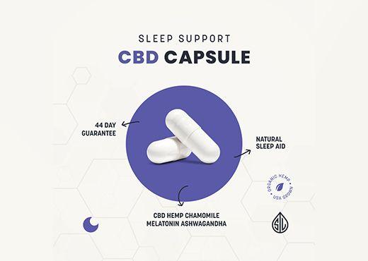 cbd capsule, natural sleep aid, sleep support cbd capsules, simpleleaf