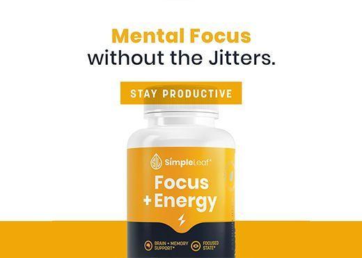 natural focus pill, cbd capsule, focus energy cbd, simpleleaf