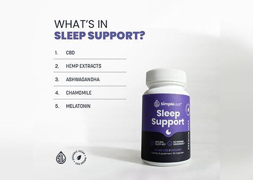 Plant based organic cbd sleep support, simpleleaf