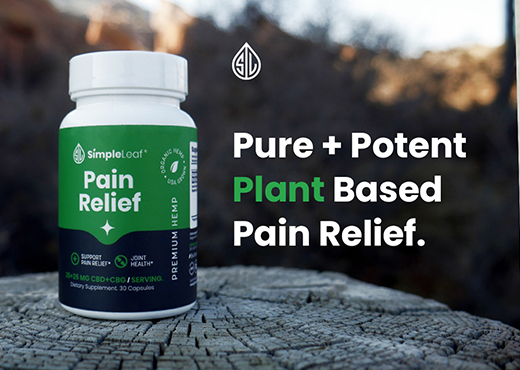 pain relief, natural pain relief, cbd and cbg capsules