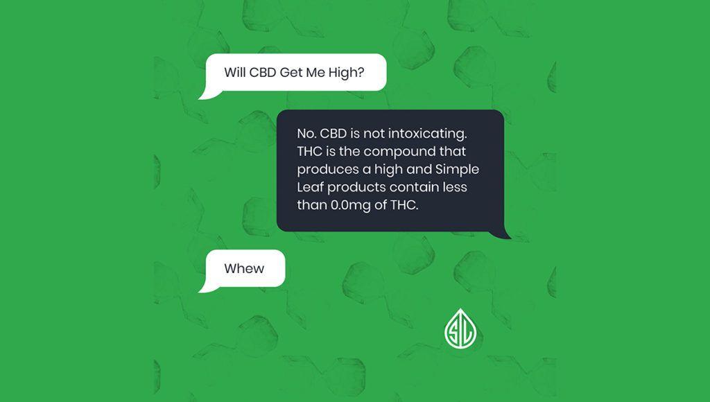 will cbd make me high, organic cbd