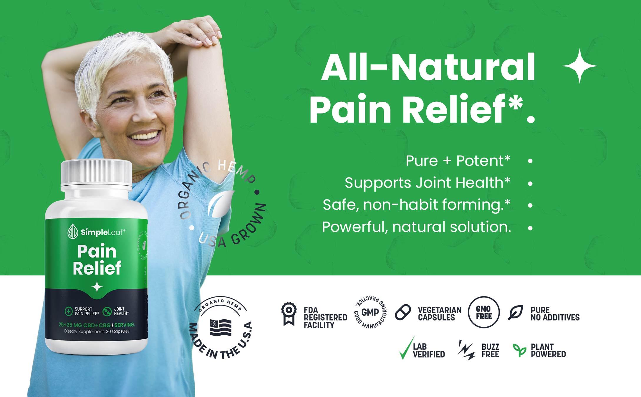 natural pain relief pills, cbd pain relief, cbg pain relief