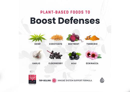 CBD Capsules, Immune Boost CBD, Simple Leaf CBD