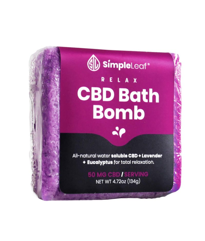 CBD Bath Bomb, Simple Leaf CBD